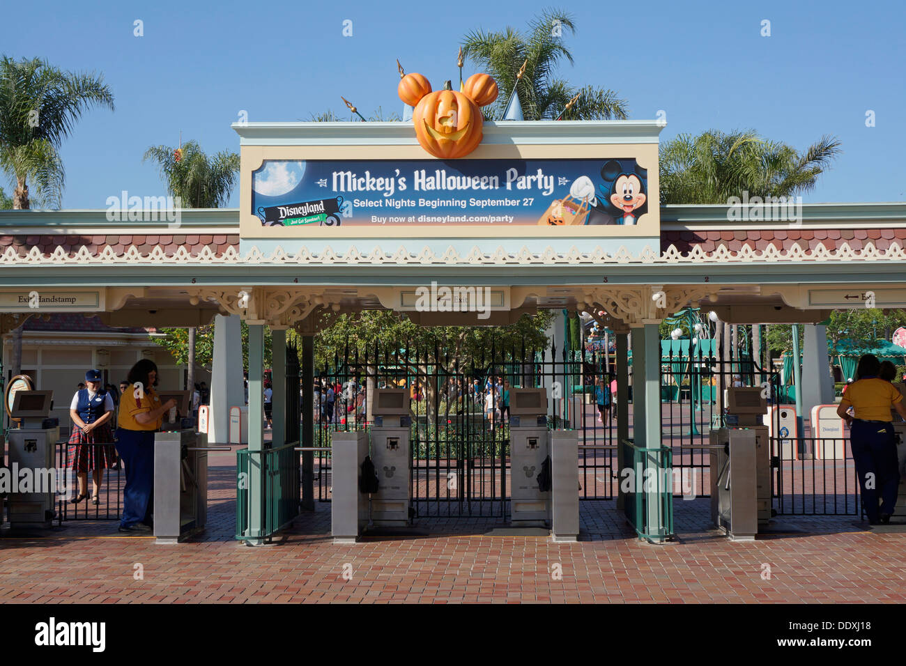 Disneyland Resort, Exit /  Entrance, Theme Park, Anaheim California - Stock Image