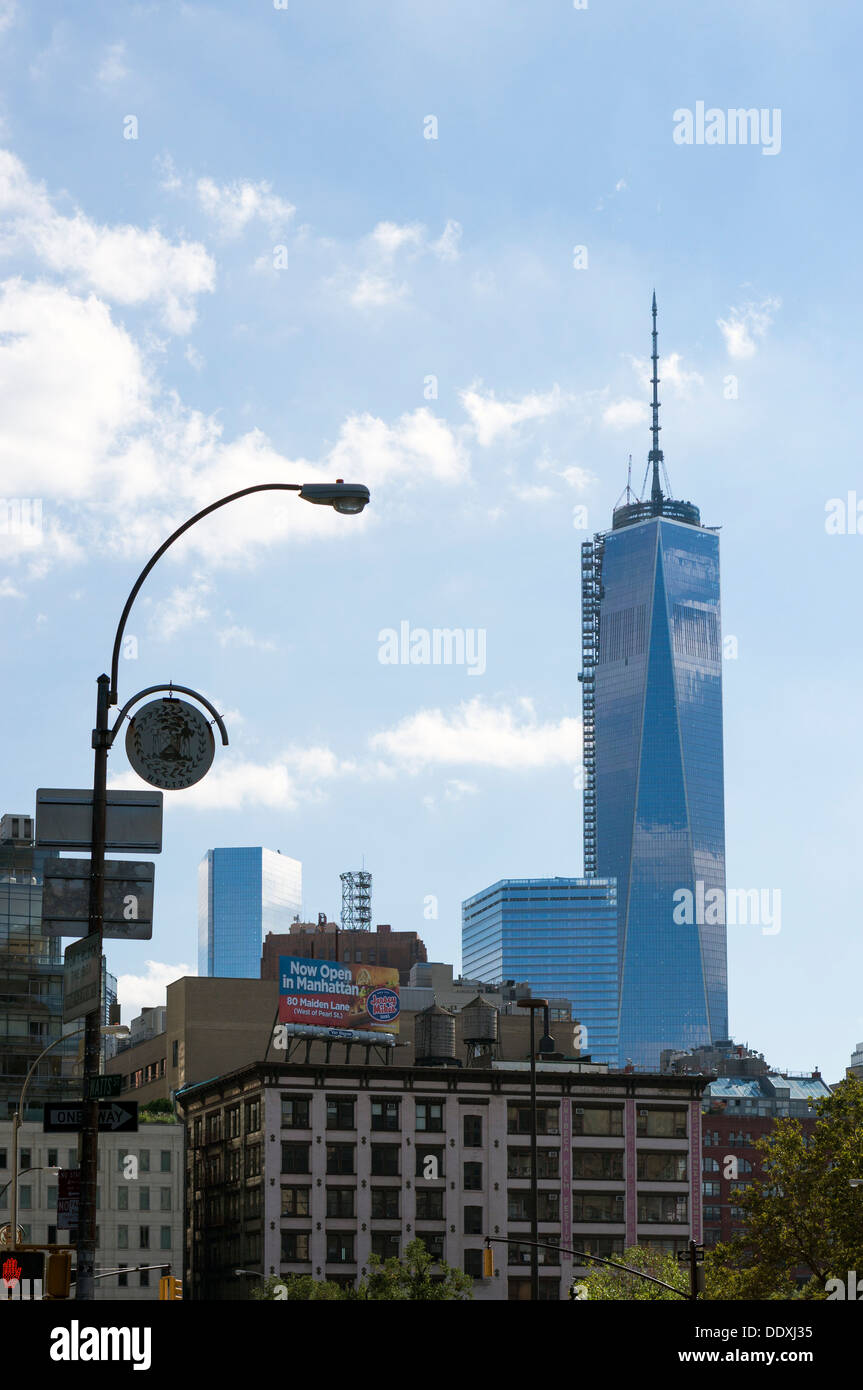 One World Trade Center, now the tallest building in New York City at 1,776 feet - Stock Image