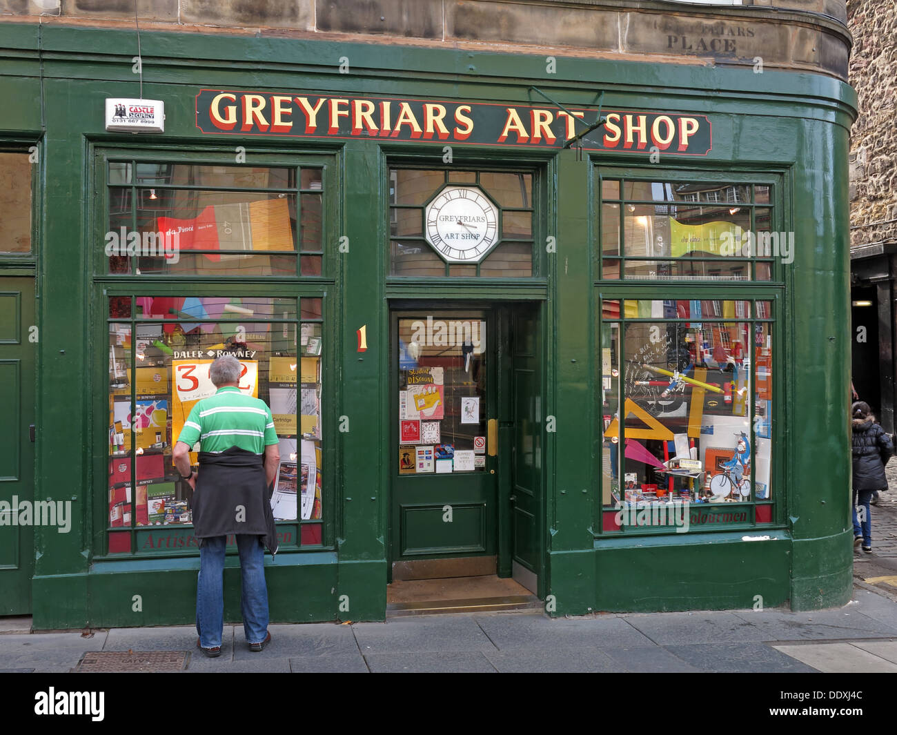 Greyfriars Art Shop, Edinburgh, Scotland, UK, EH1 2QQ - Stock Image