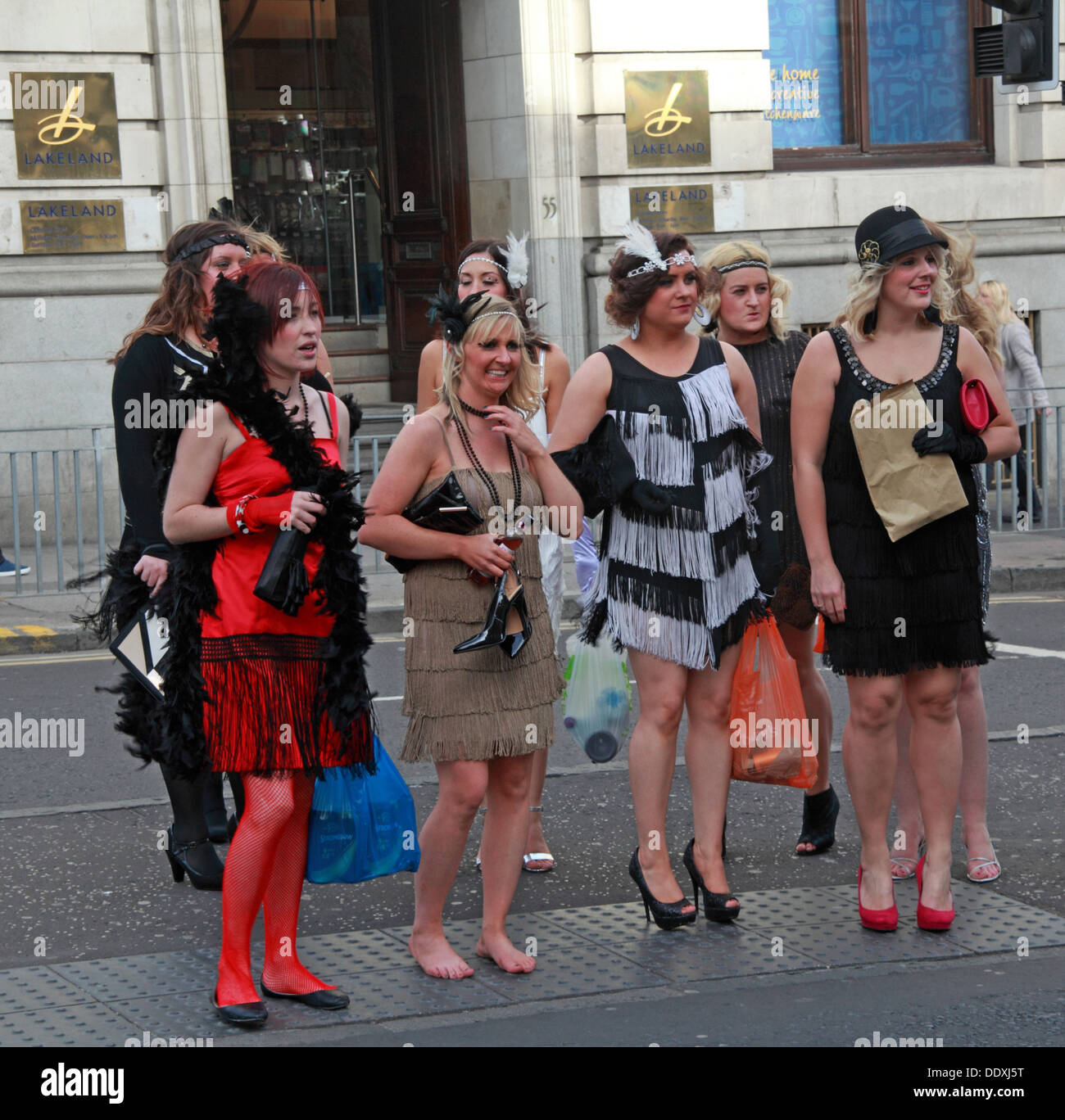 Popular location, Hen Party in George St, Edinburgh, Scotland, UK - Stock Image