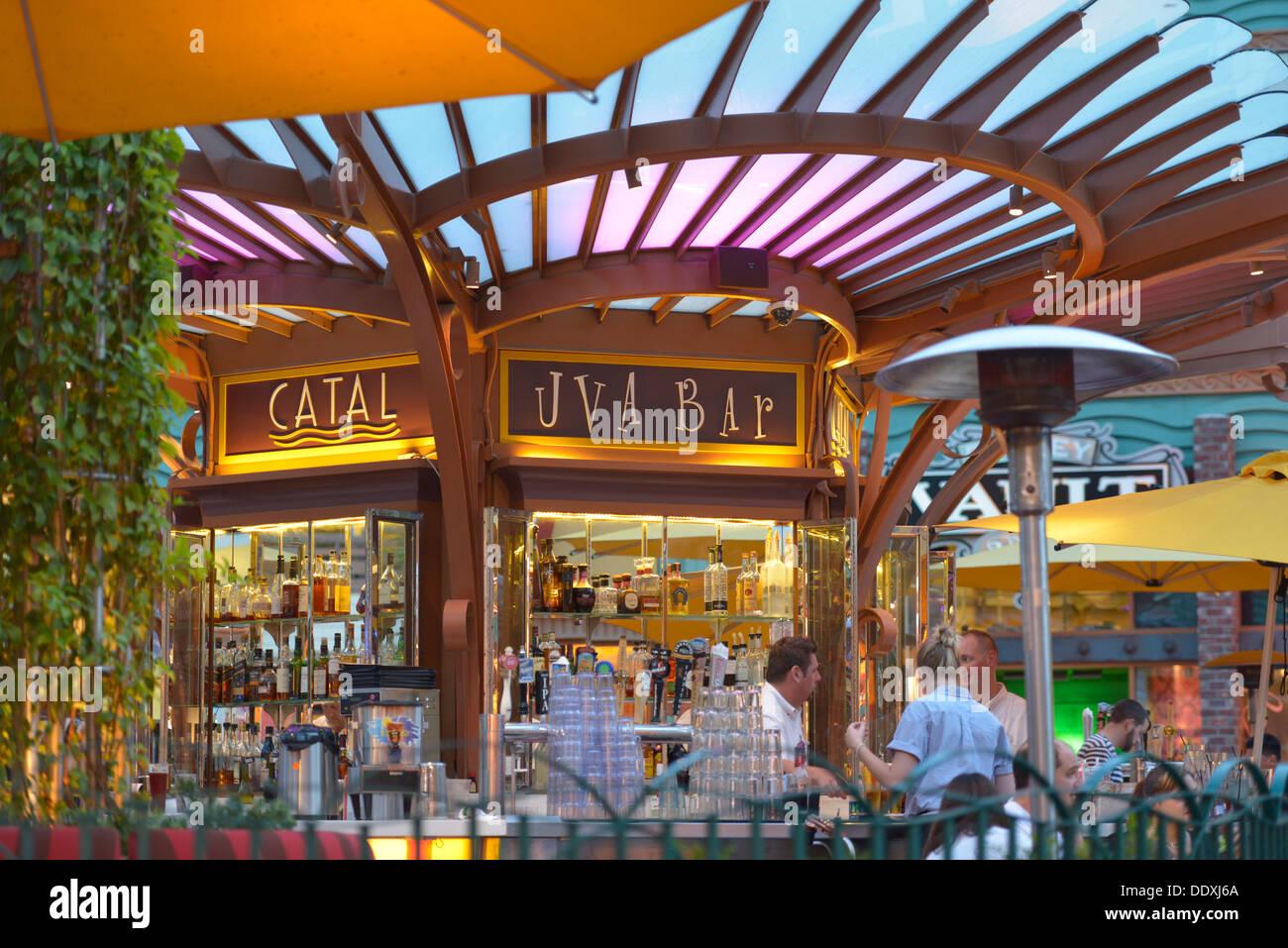 Disneyland, Downtown Disney, Catal Restaurant & Uva Bar, Anaheim, California - Stock Image