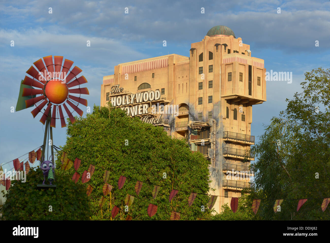 Disneyland, Hollywood Tower Hotel, California Adventure Park, Anaheim - Stock Image
