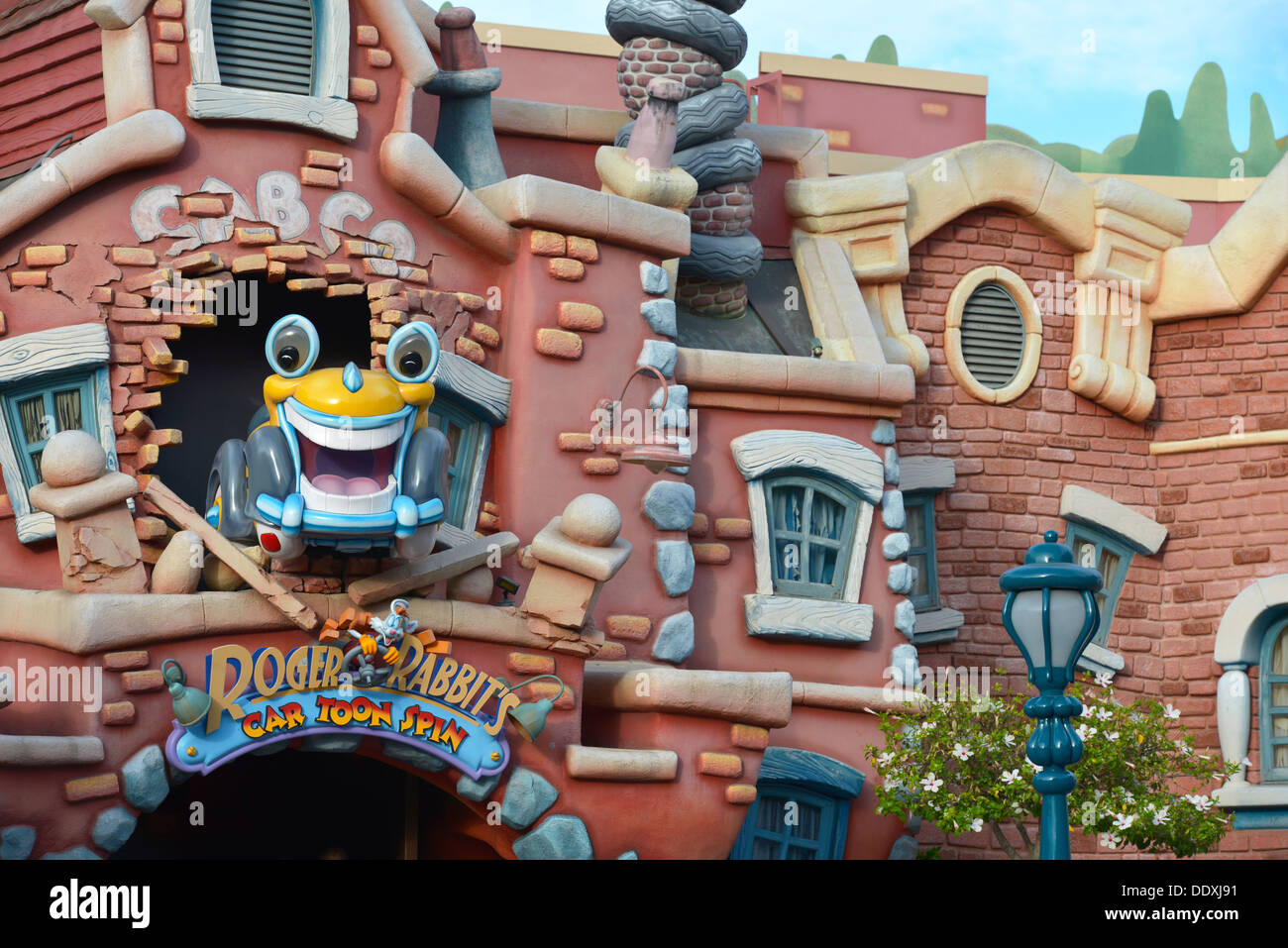 Roger Rabbit's Car Toon Spin, Disneyland, Toontown, Anaheim California - Stock Image