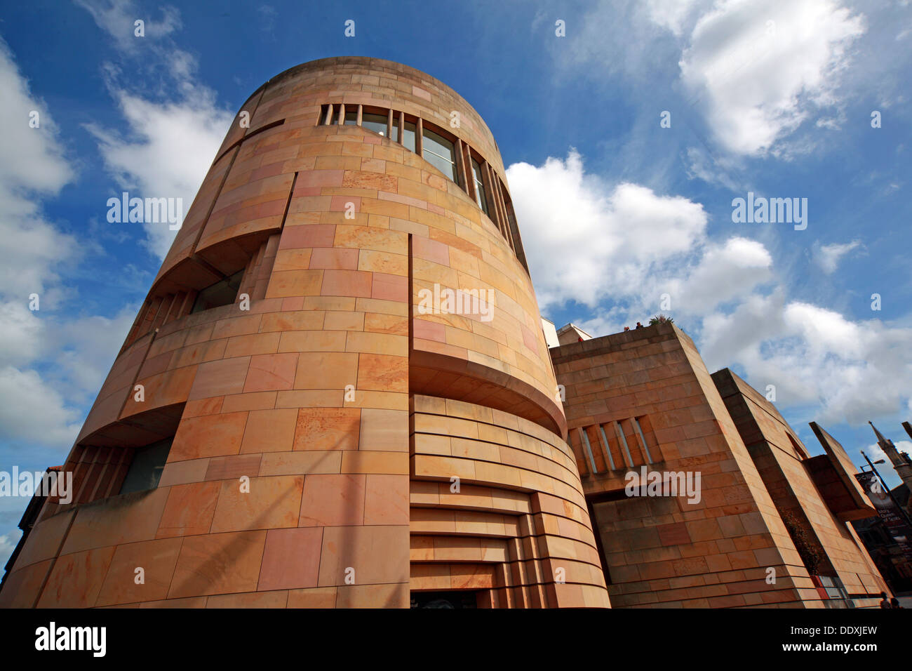 National Museum of Scotland new exterior with blue summer sky, Chambers St Edinburgh city, Scotland UK EH1 1JF Stock Photo