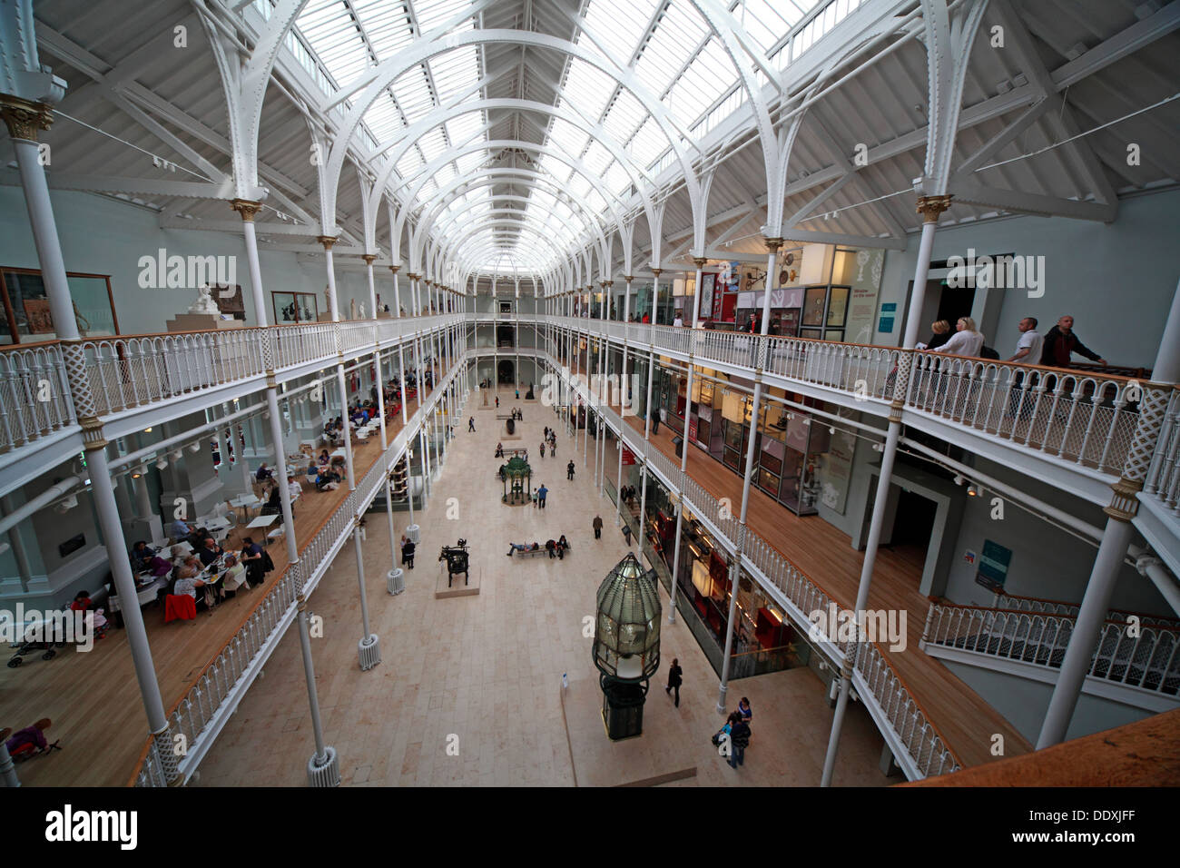 National Museum of Scotland interior, Chambers St Edinburgh city, Scotland UK EH1 1JF - Stock Image