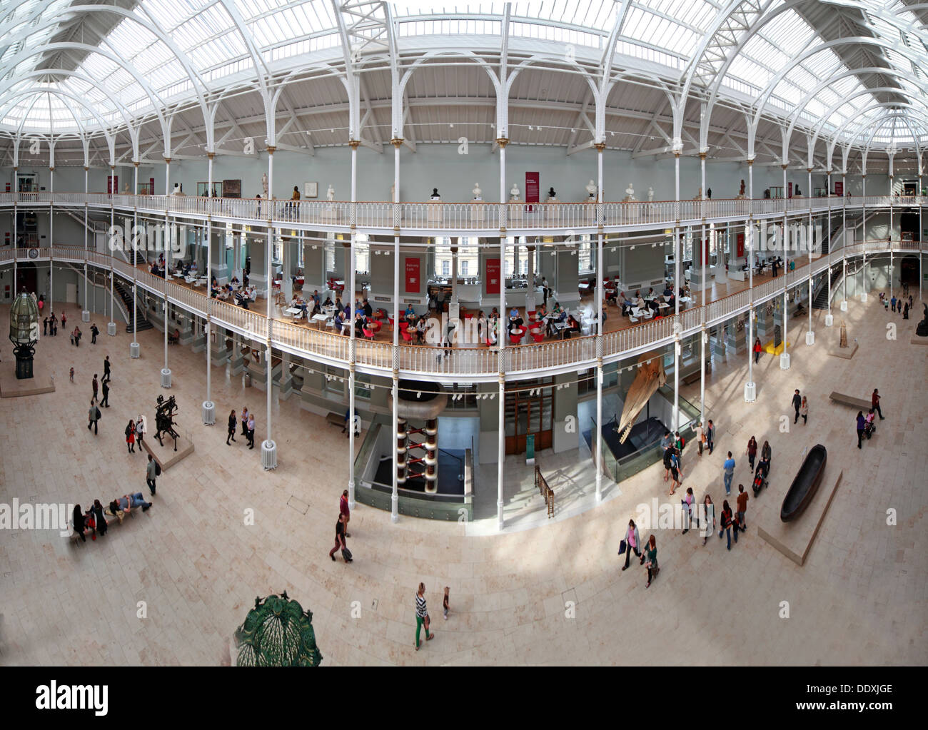Wide shot of the National Museum of Scotland interior, Chambers St Edinburgh city, Scotland UK EH1 1JF - Stock Image