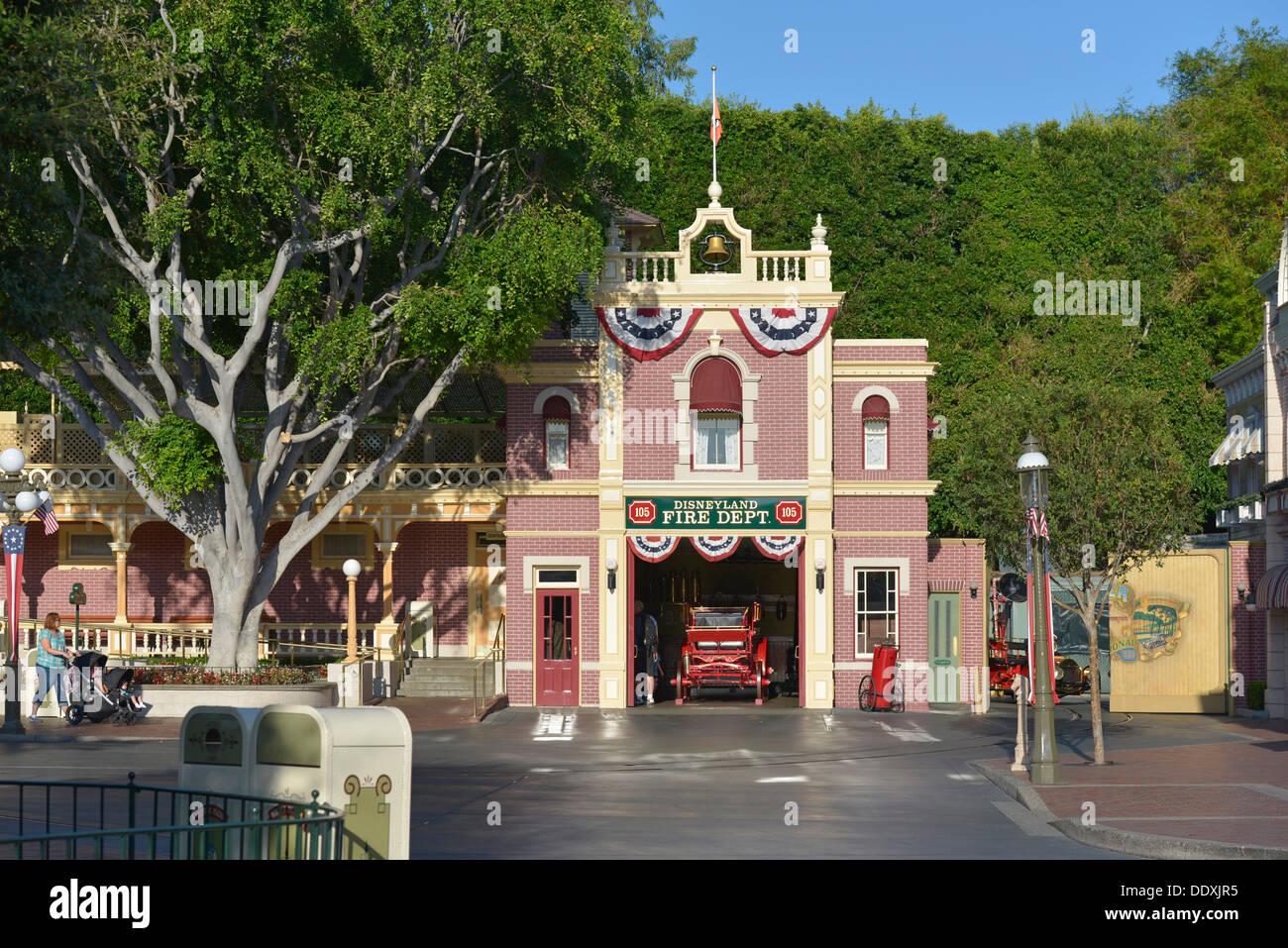 Walt Disney's Apartment above the Fire Dept., Disneyland Resort on Main Street, Anaheim, California - Stock Image