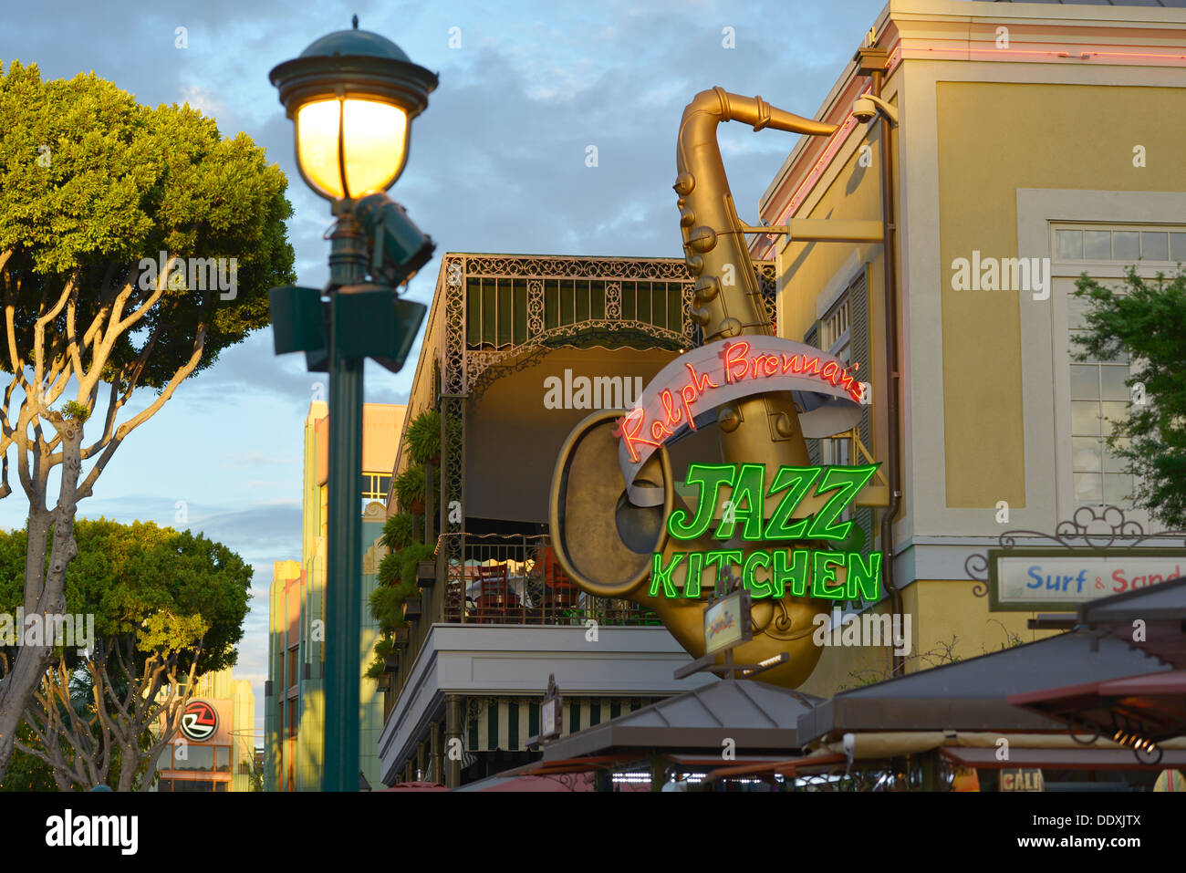 Ralph Brennan's Jazz Kitchen, Disneyland, Downtown Disney, Anaheim, California - Stock Image