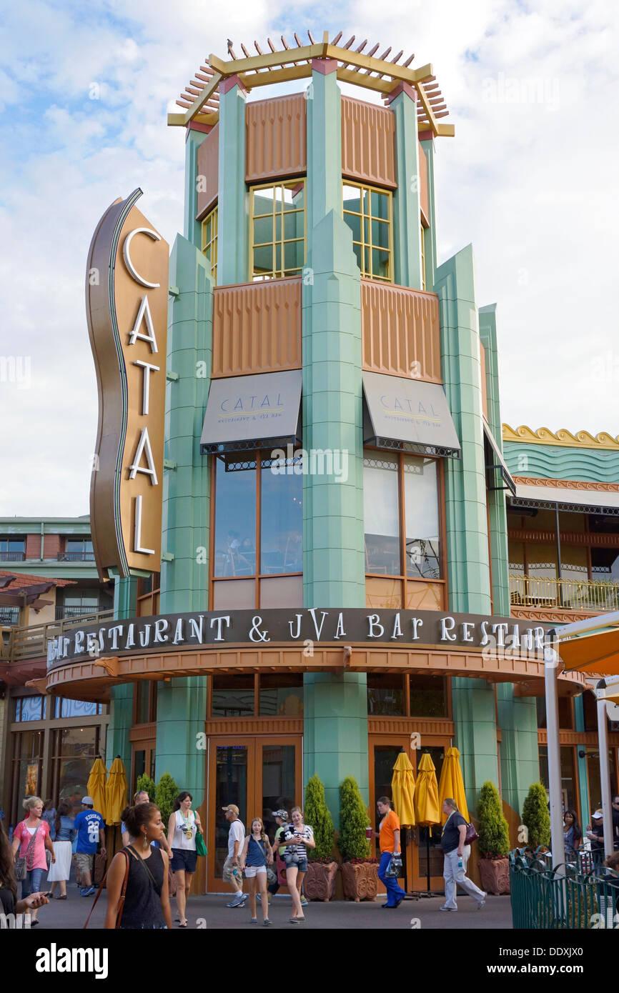 Catal Restaurant & Uva Bar, Disneyland, Downtown Disney, Anaheim, California - Stock Image
