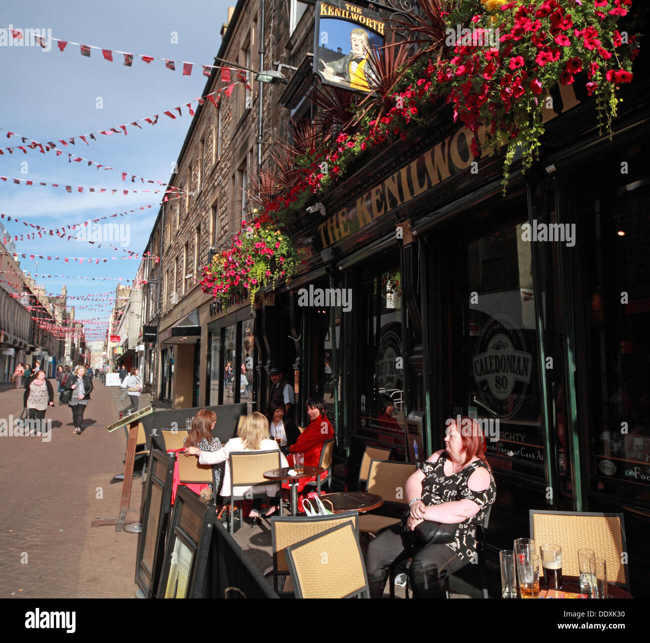 Rose Street,Edinburgh,Scotland,UK - the Kenilworth - Stock Image