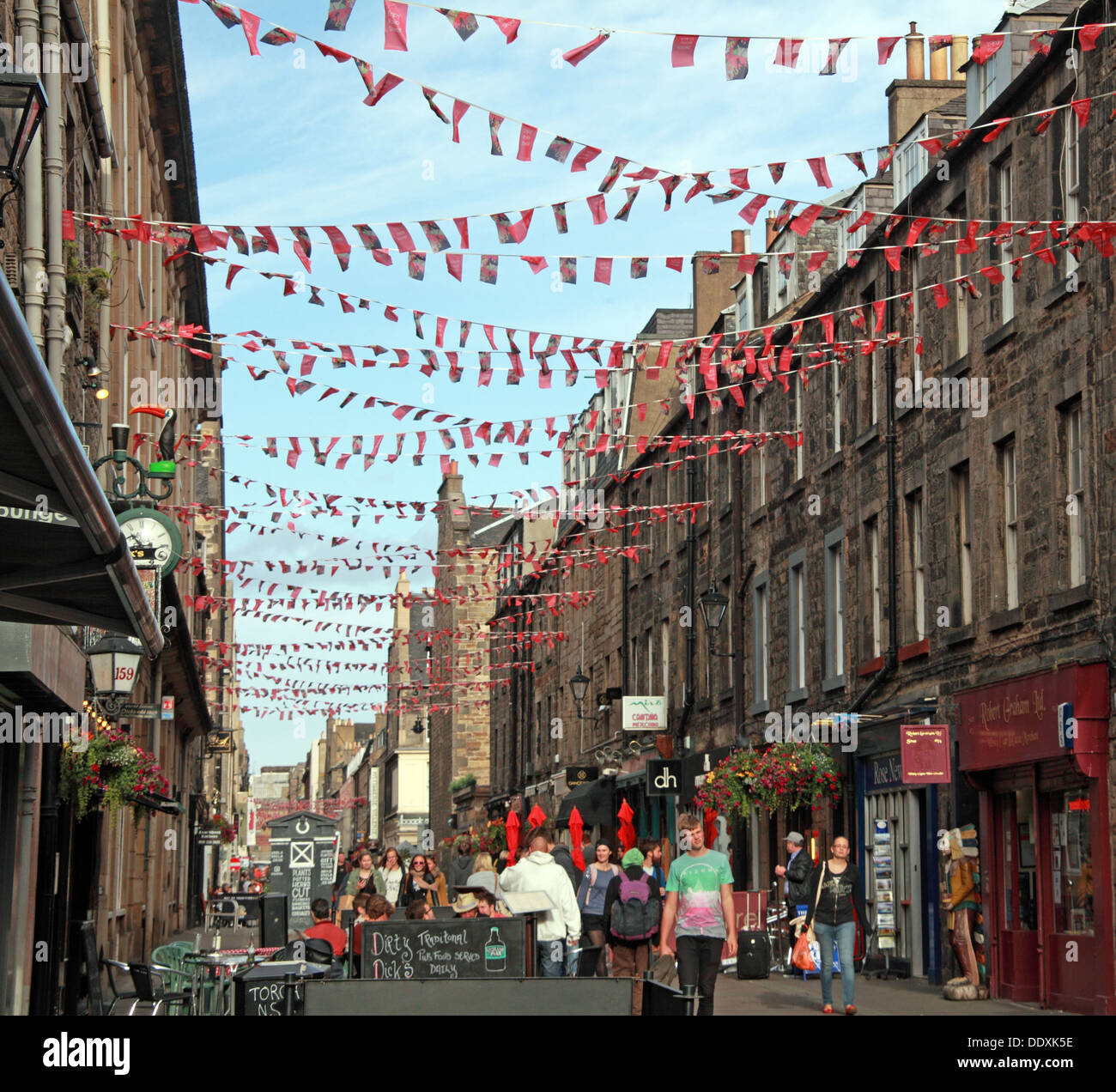 Rose Street,Edinburgh,Scotland,UK a place to drink,eat,party - Stock Image