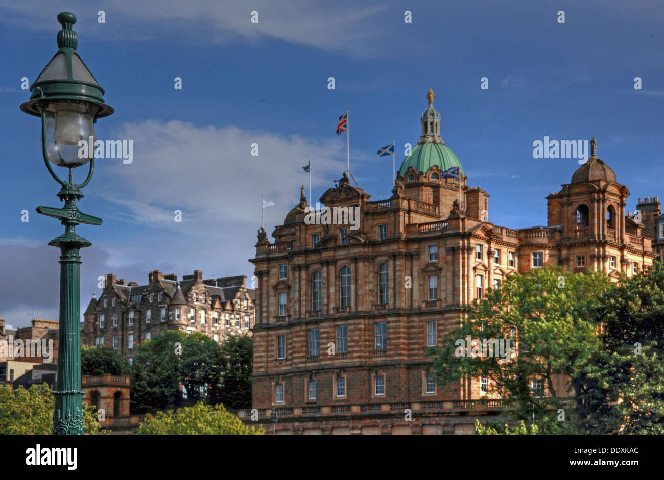 Bank of Scotland office headquarters, The Mound, Edinburgh, Scotland, UK - Stock Image