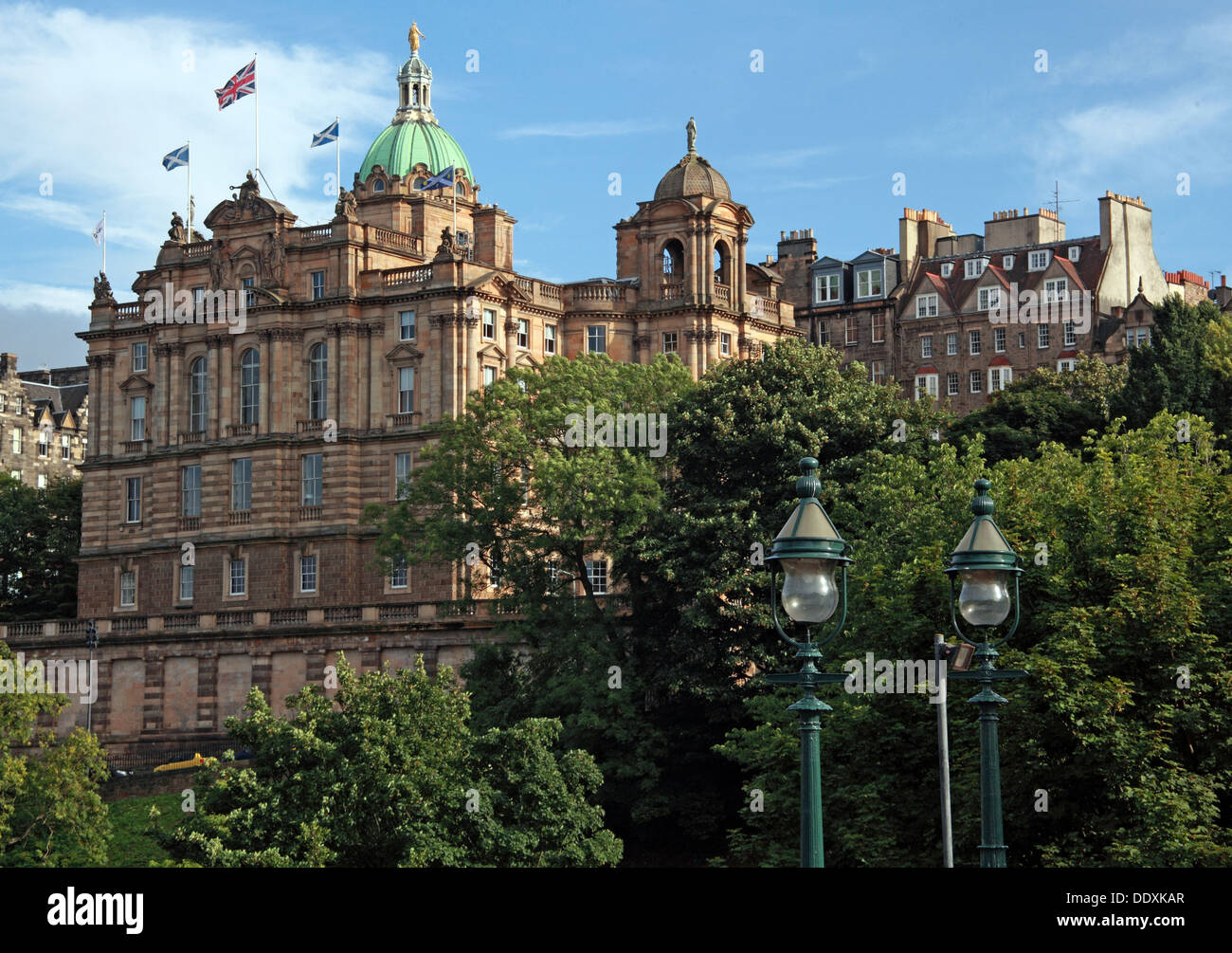 Bank of Scotland office headquarters, The Mound, Edinburgh, Scotland, UK Stock Photo