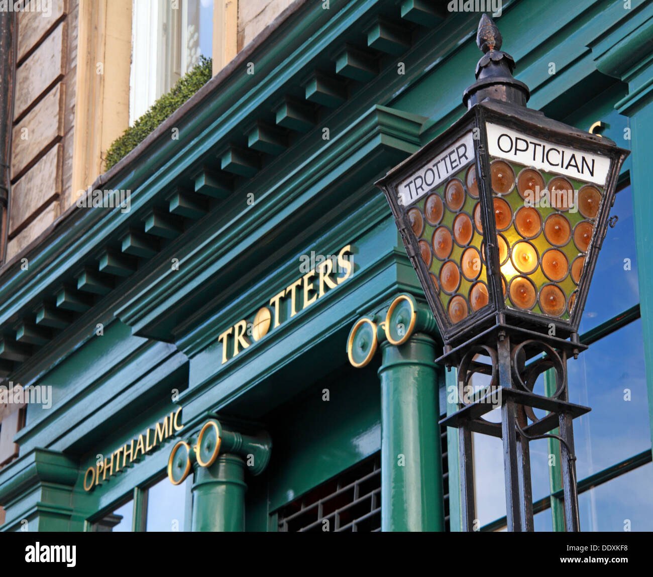 Trotters Optician,George St, New Town, Edinburgh,Scotland,UK - Stock Image