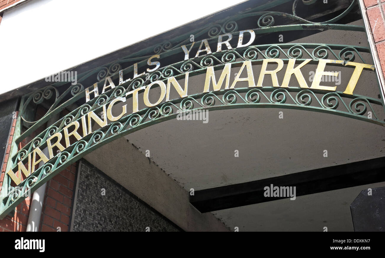 Halls Yard, Warrington Market, Cheshire, England, UK - Stock Image