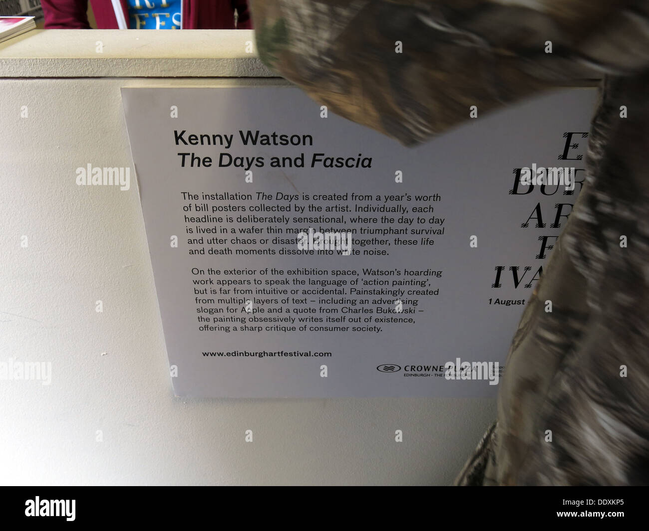 Kenny Watson exhibition 169 Rose St Edinburgh 'The Days and Fascia' exhibition,Scotland,UK - Stock Image