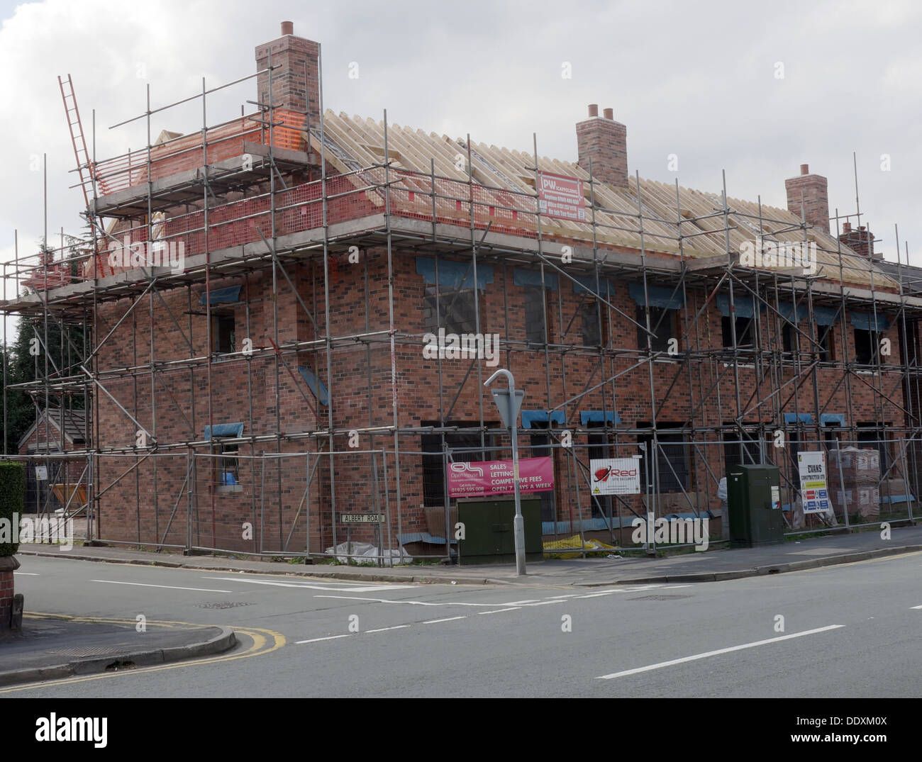 New homes being built in Warrington, Cheshire, England, UK - Stock Image