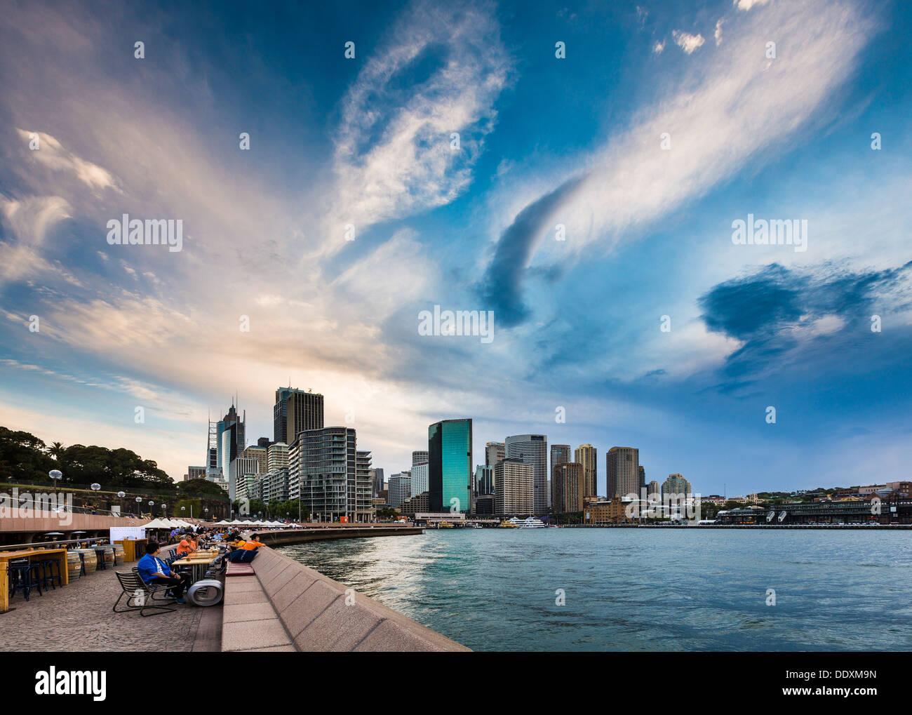 Sydney Skyline from Sydney Cove - Stock Image