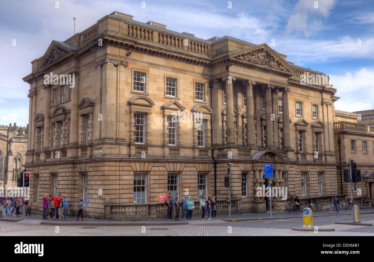 Midlothian County Building, Edinburgh, Lothian, Scotland, UK - Stock Image