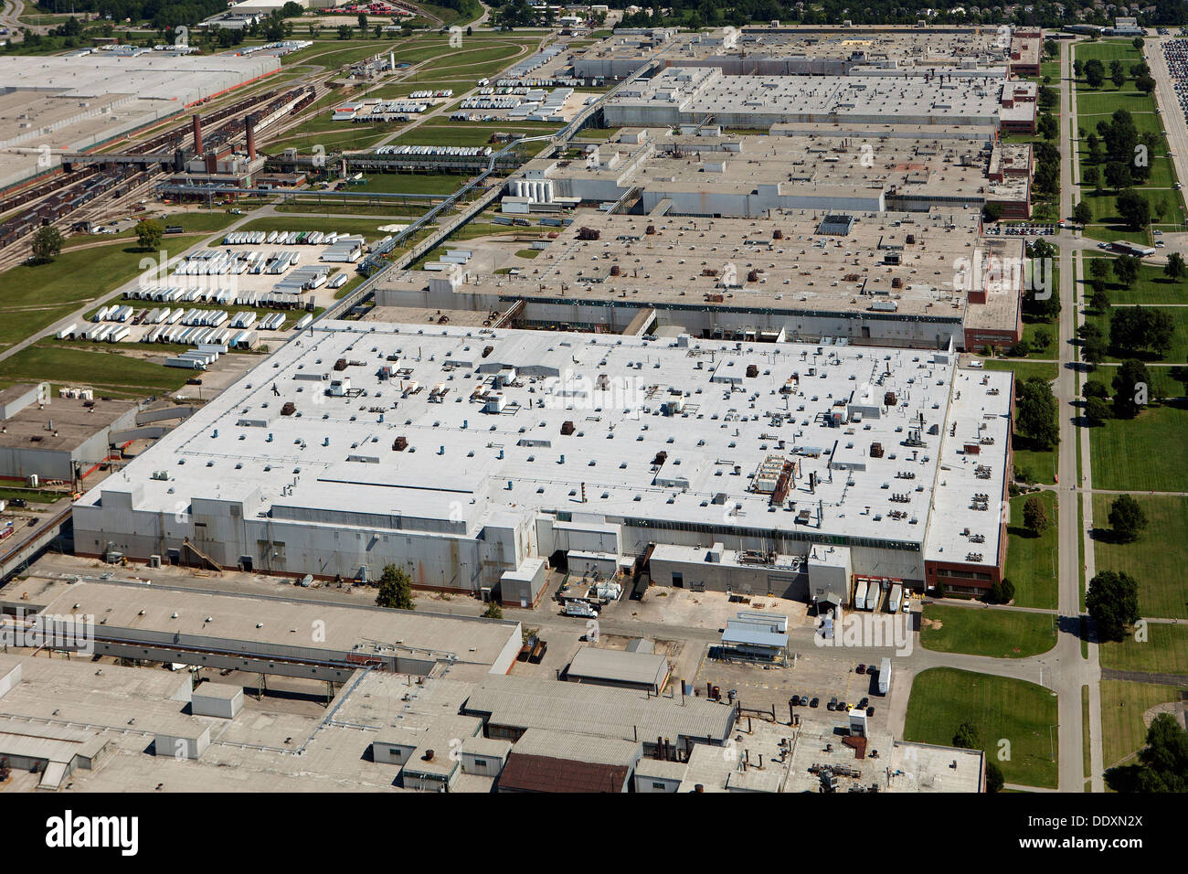 aerial photograph GE Appliance Park plant, Louisville, Kentucky - Stock Image