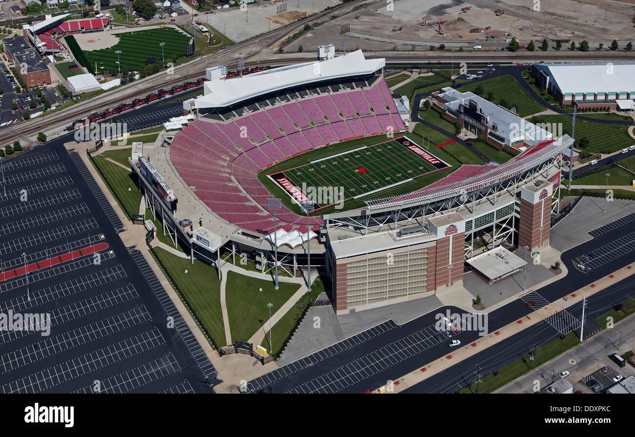 aerial photograph Papa John's Cardinal Stadium, Louisville, Kentucky - Stock Image
