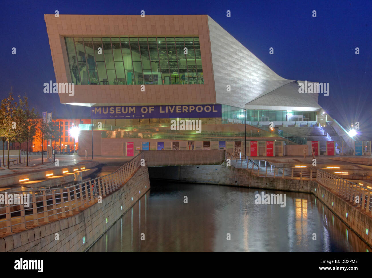 Museum of Liverpool at dusk,Merseyside,England,UK - Stock Image