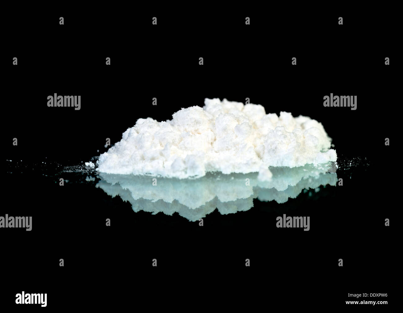 White powder on the mirror - Stock Image