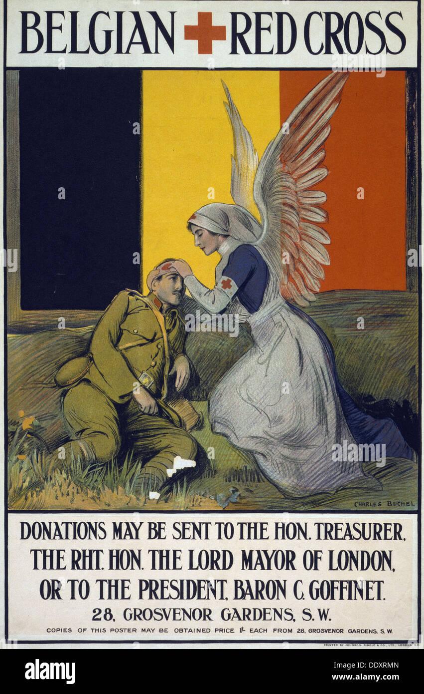Belgian Red Cross 1915 - Stock Image