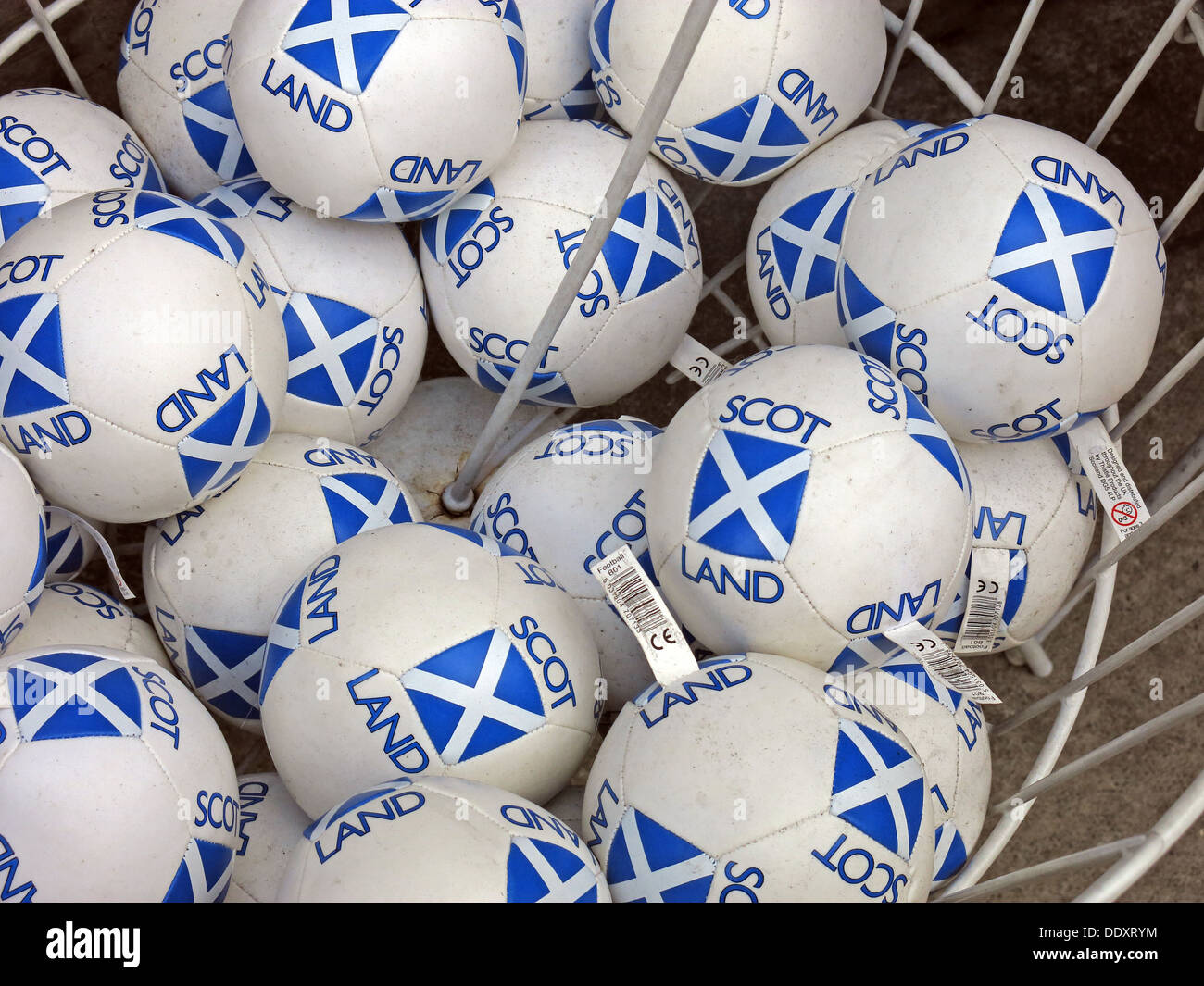 Scottish /Scotland balls to independence - Stock Image