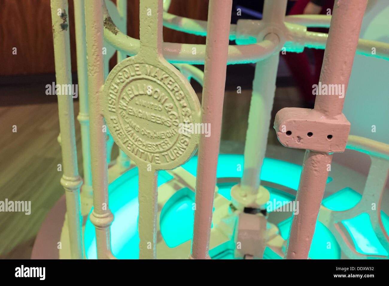 Details of turnstile in National Football Museum at Urbis in Manchester city centre, UK - Stock Image