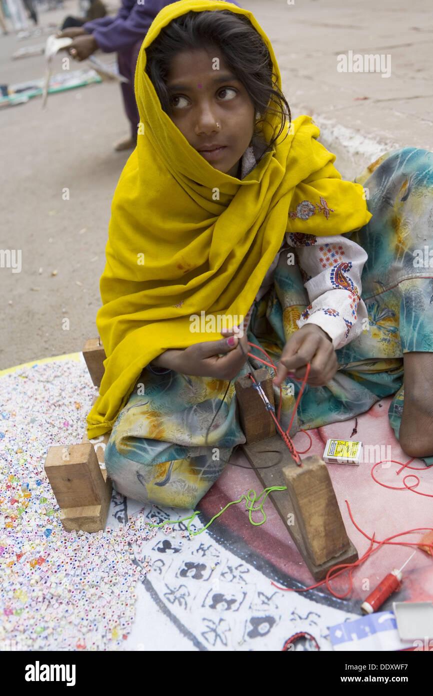 India. Delhi. Untouchable child - Stock Image