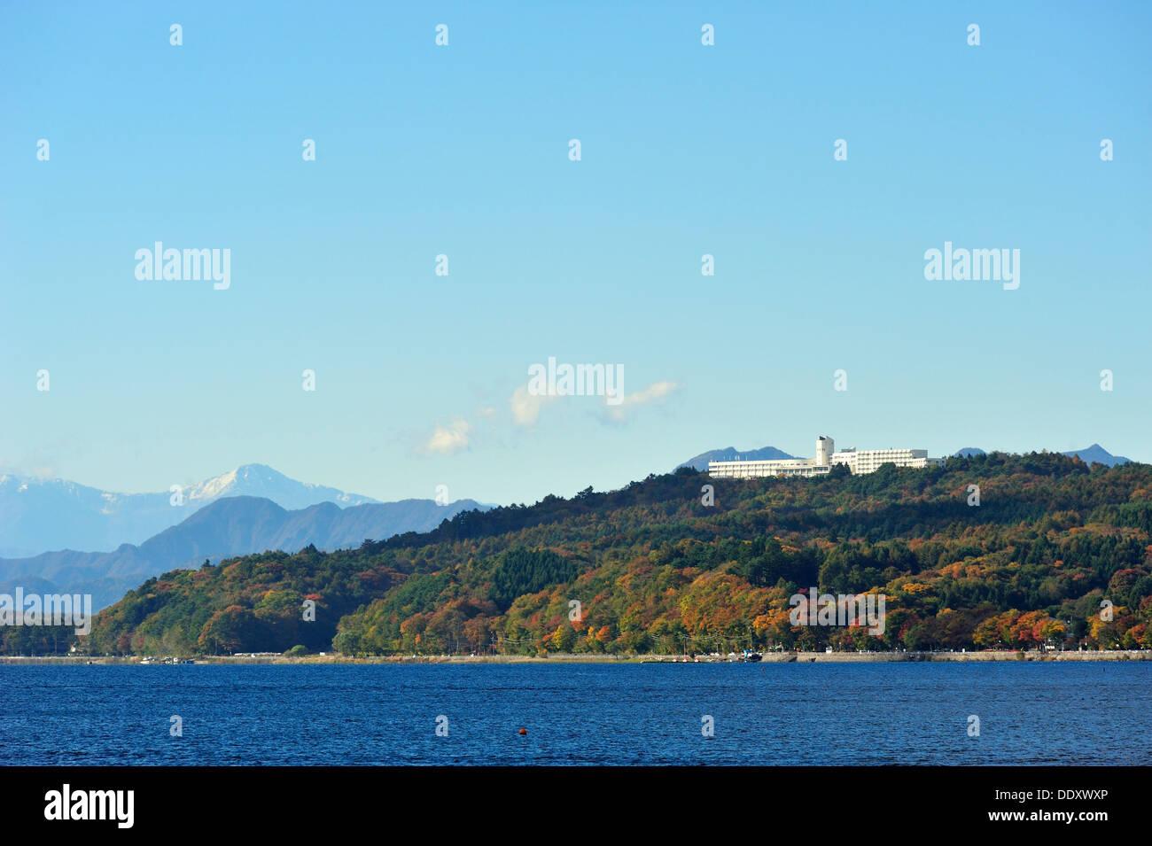 Lake Yamanaka, Kanagawa Prefecture Japan Stock Photo