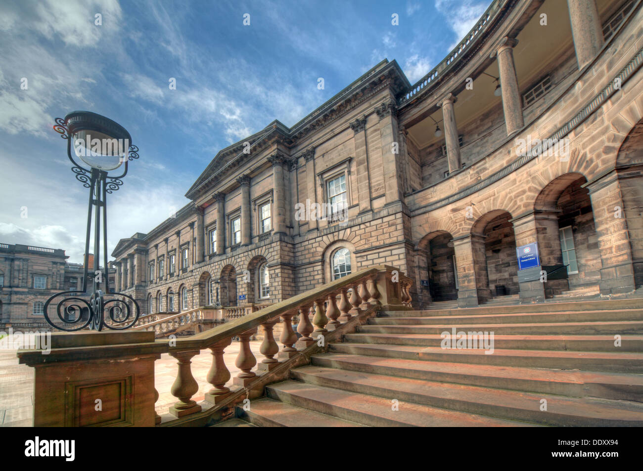Elegance of Edinburgh University South College Lothian Scotland UK wide view Stock Photo
