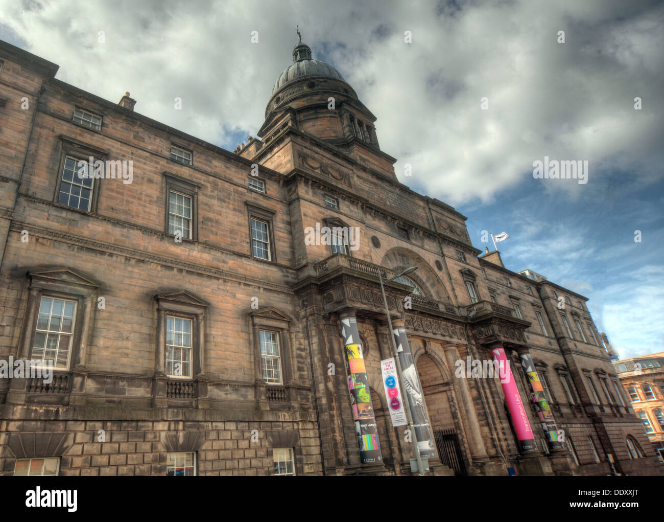 exterior of Edinburgh University South College Lothian Scotland UK wide view - Stock Image