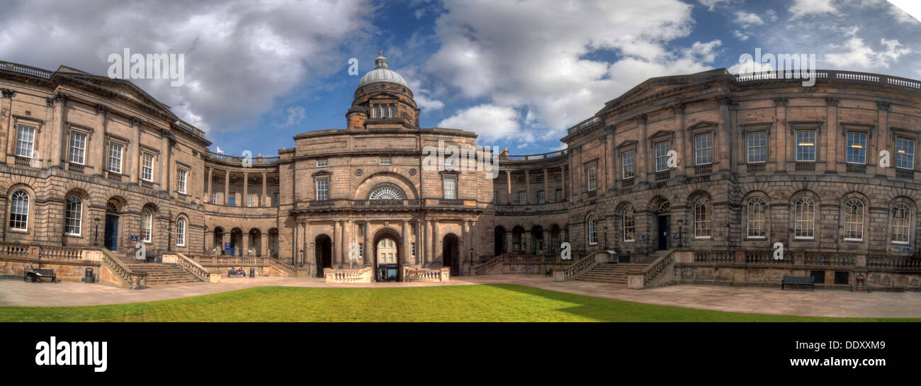 Panorama of South College Edinburgh University, Lothian, Scotland, UK Stock Photo