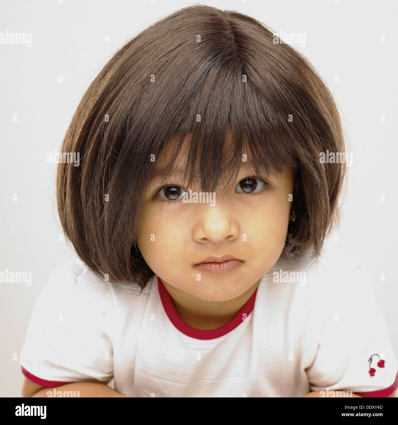 Indian baby girl 30 years wearing a wig Stock Photo - Alamy
