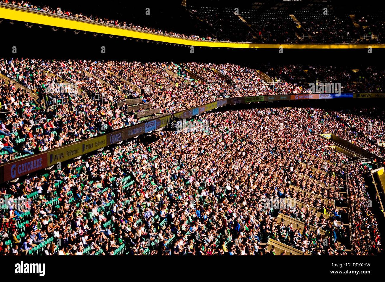 Supporters at Twickenham Rugby Stadium south west London England - Stock Image