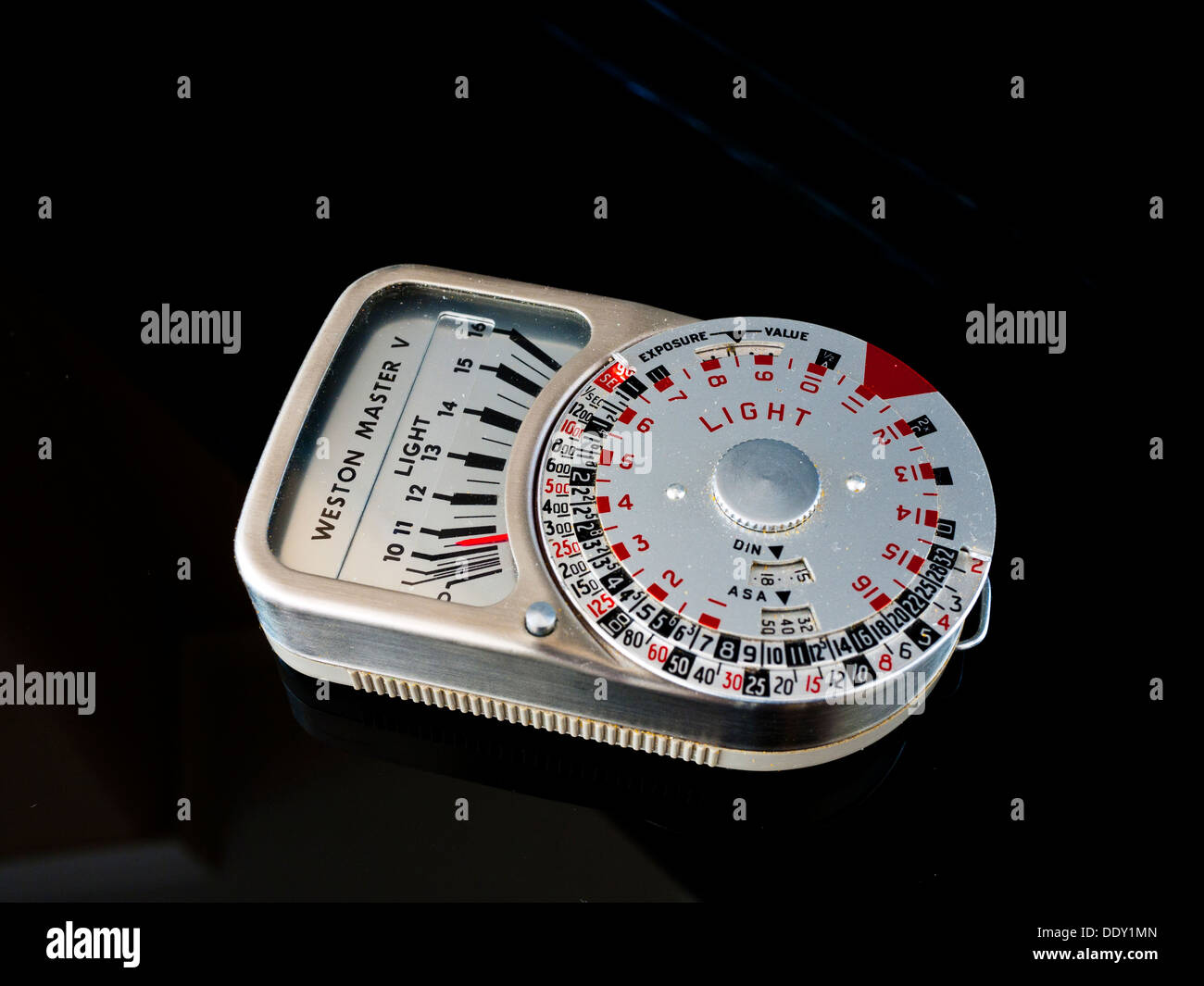 Weston Master vintage light meter. - Stock Image
