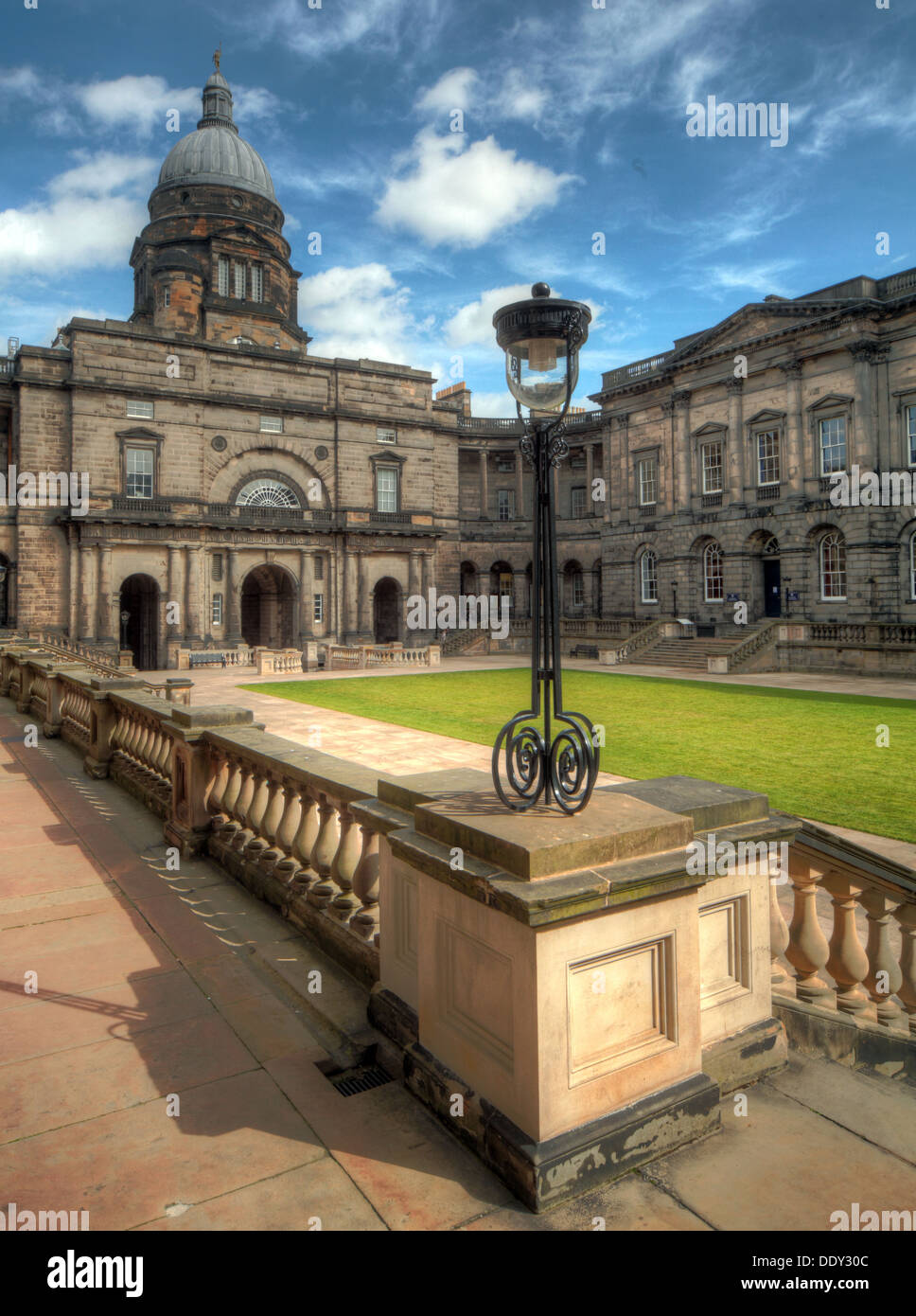 Edinburgh University South College Lothian Scotland UK wide view with dome - Stock Image