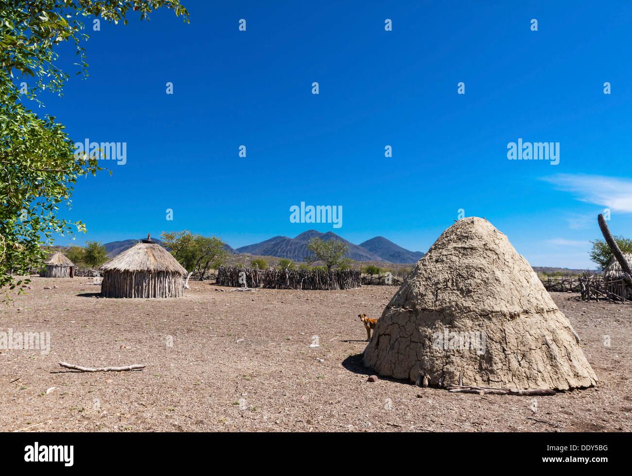 Himba settlement - Stock Image