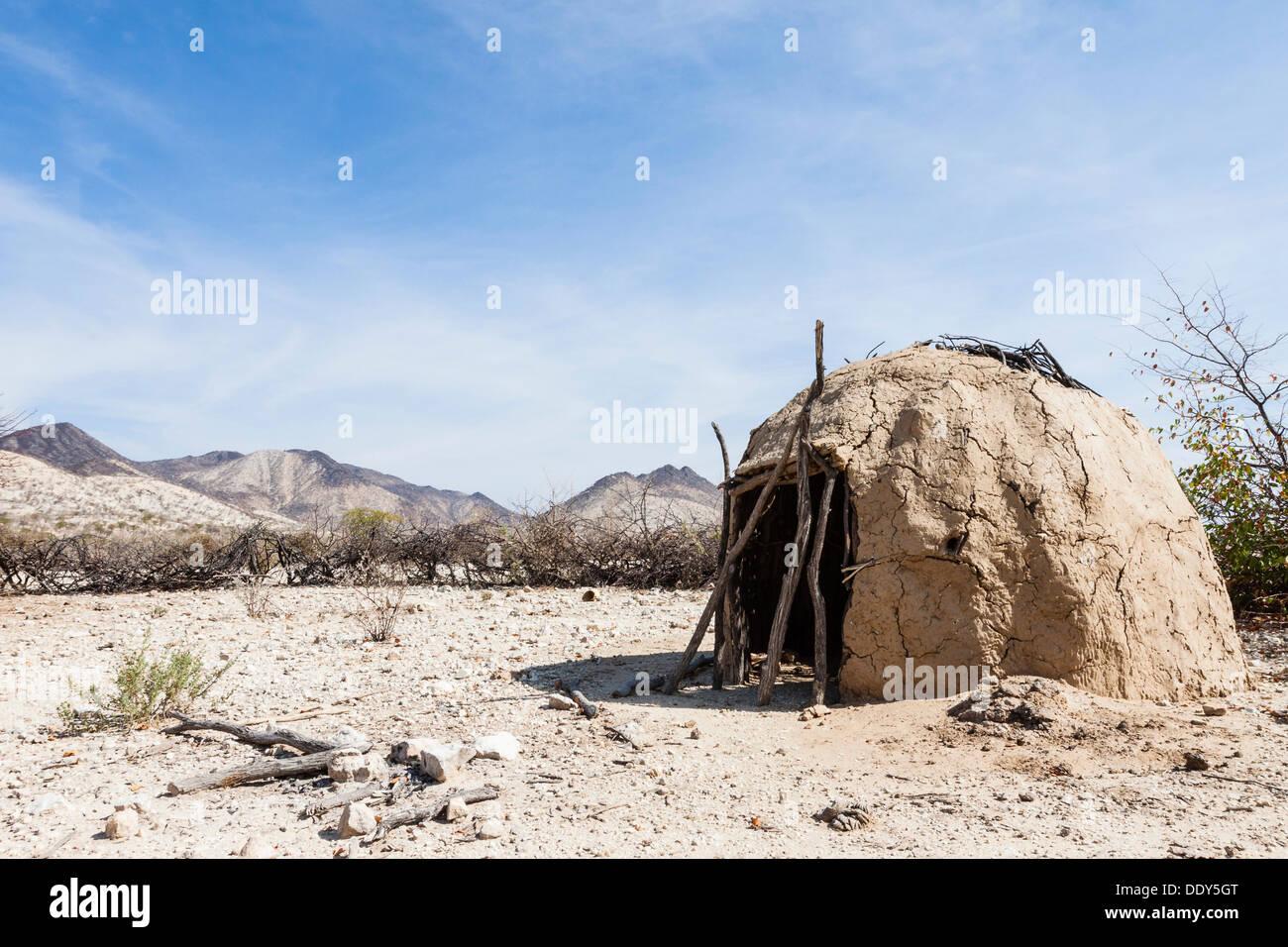 Mud hut of the Himba - Stock Image