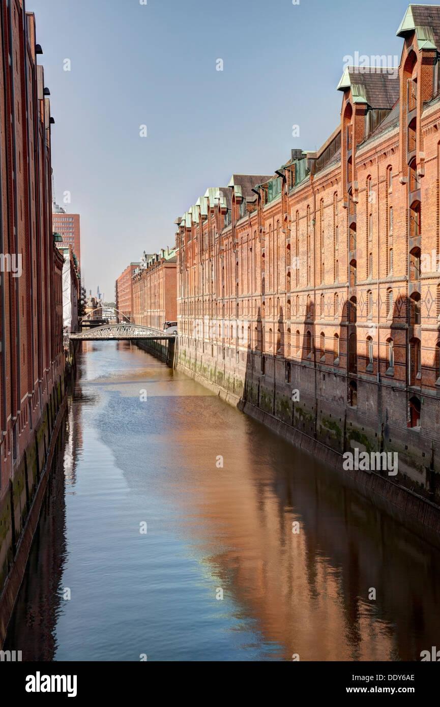 Brooksfleet,Speicherstadt, Hamburg, Germany - Stock Image