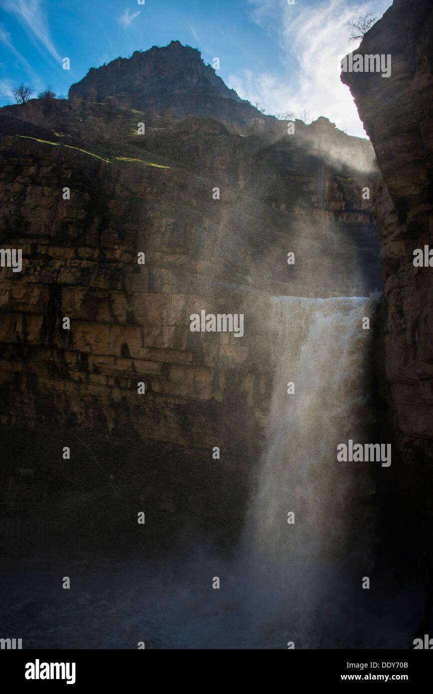 Gali Ali Beg waterfall, Gali Ali Beg canyon - Stock Image