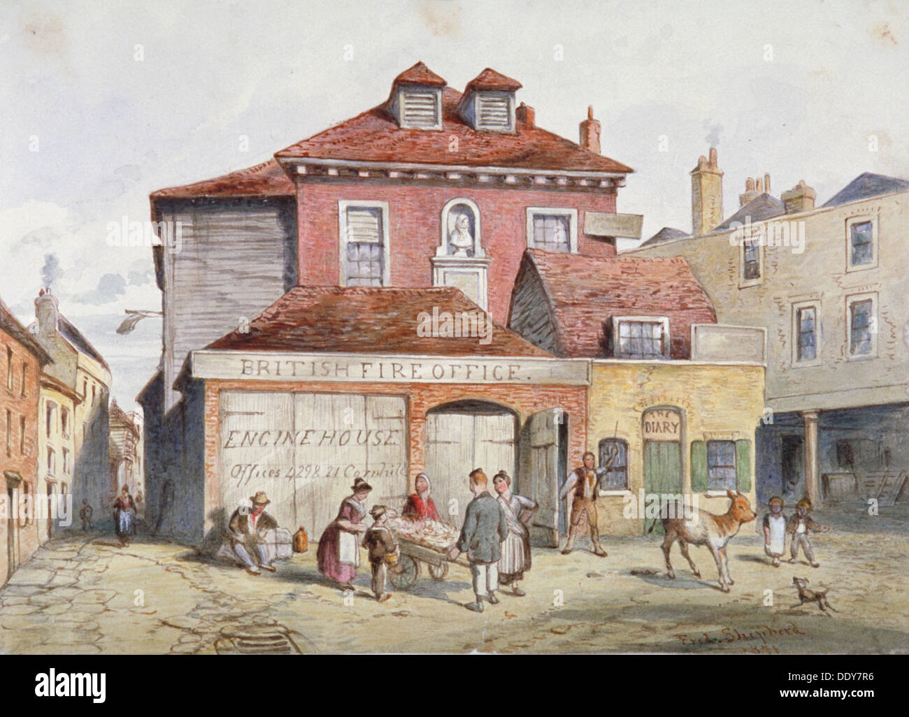 View of Hungerford Market, Westminster, London, 1841. Artist: Frederick  Napoleon Sh