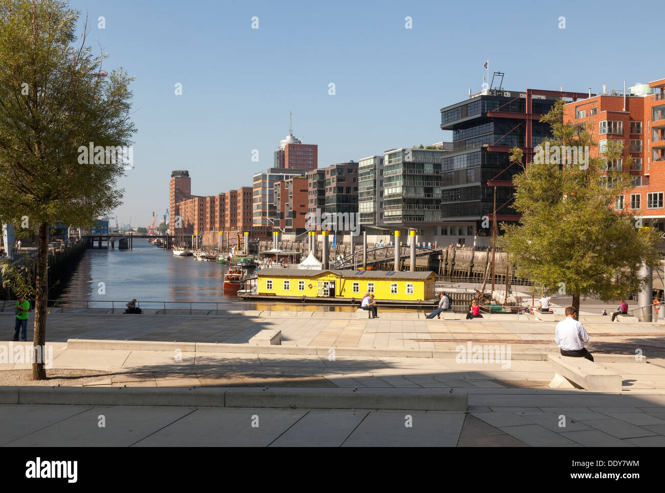 Hafen City, Am Sandtorkai / Dalmannkai quarter, Hamburg, Germany - Stock Image