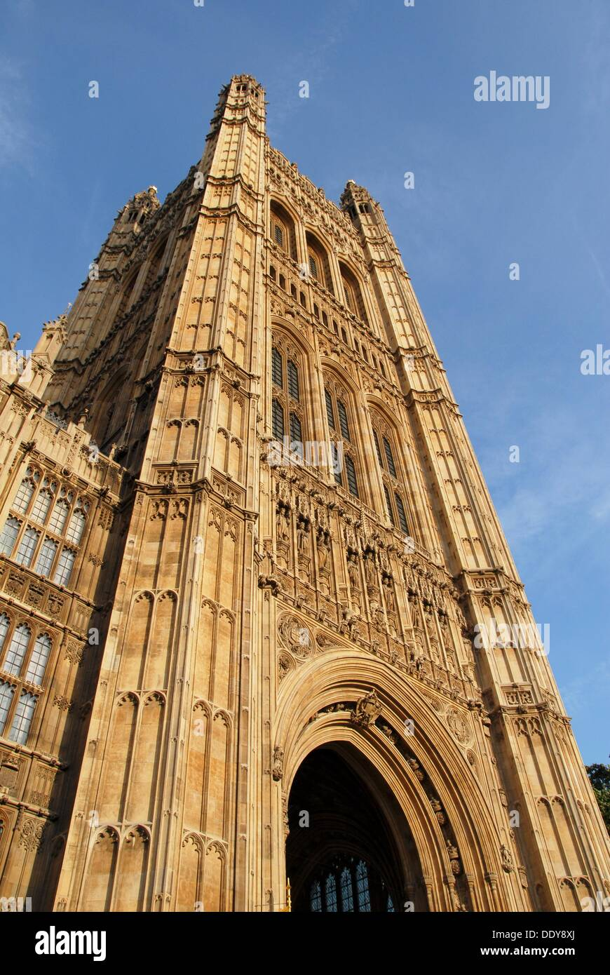 Victoria Tower. Houses of Parliament. Westminster Hall. Westminster, London, England, Great Britain, Europe - Stock Image