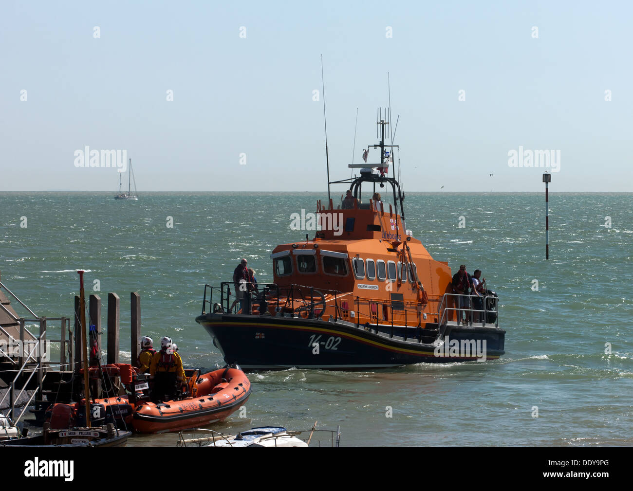 The Esme Anderson, and the Bob Turnbull lifeboats, on display during Broadstairs Water Gala Day 2013. - Stock Image