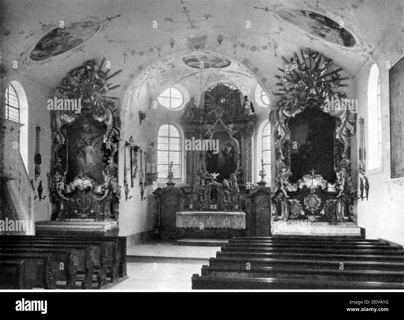 geography / travel, Germany, Kaufbeuren, churches, St. Cosmas and Damian, built 1494, Additional-Rights-Clearences-NA - Stock Image
