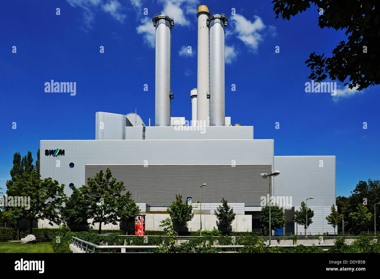 Co-generation power plant 'Sued', combined heat and power plant operated by Stadtwerke Muenchen, Sendling district, Munich - Stock Image