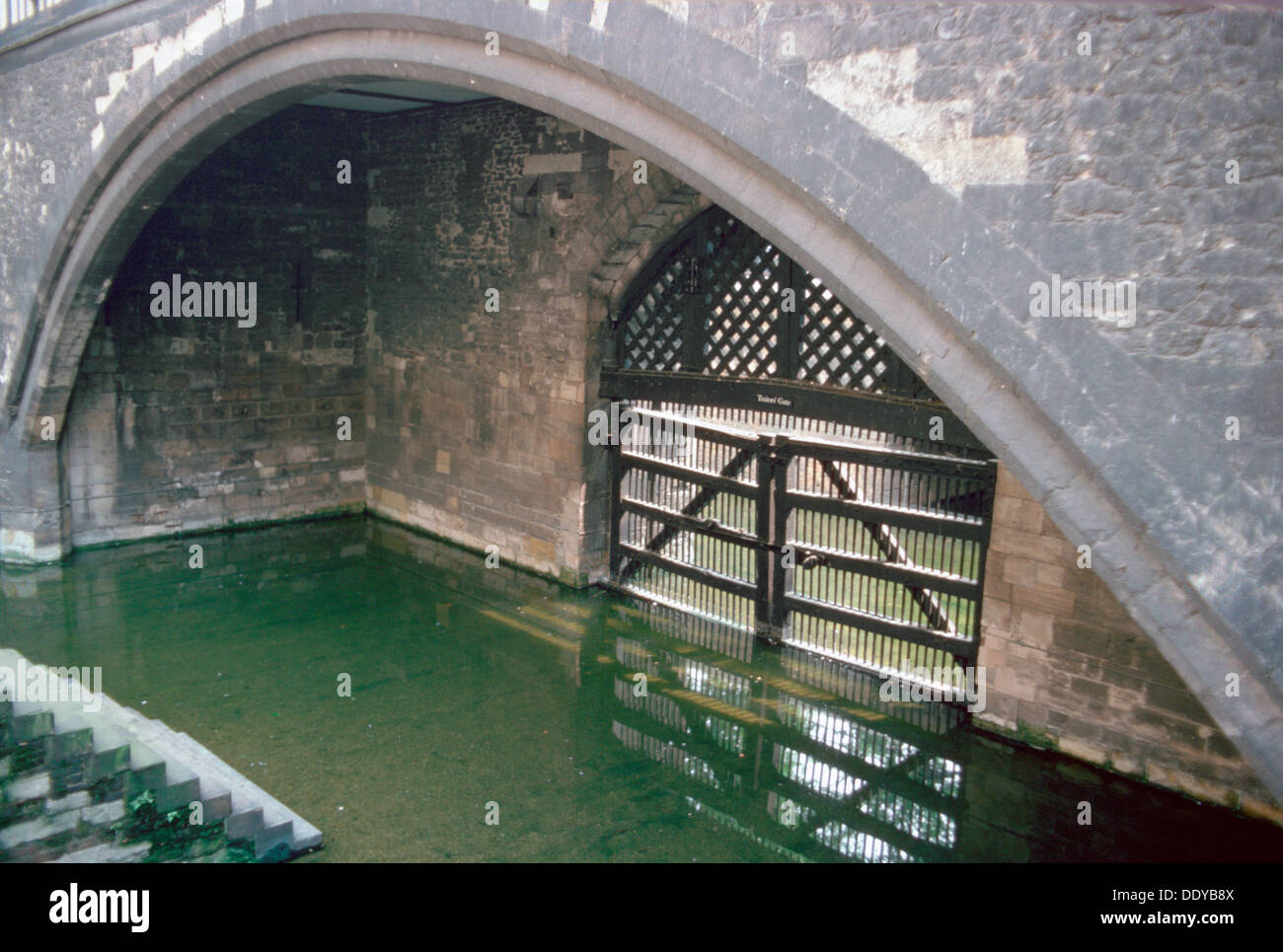 Traitor's Gate, Tower of London.  Artist: SR Edmondson - Stock Image